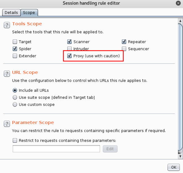 Configuring Tools Scope